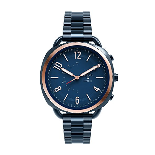 Fossil Hybrid Smartwatch - Q Accomplice Navy Blue Stainless