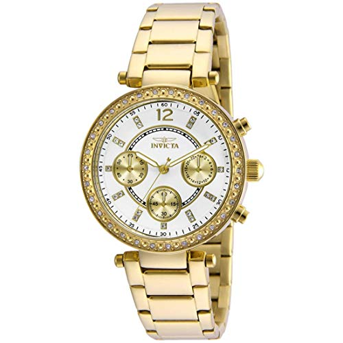 Invicta Women's Angel 18k Gold Ion-Plated Stainless Steel Bracelet Watch