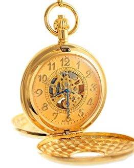 OGLE Vintage Roman Gold Copper Double Open Cover Mechanical Pocket Watch