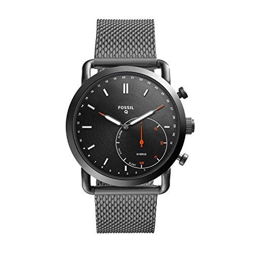 Fossil Q Men's Commuter Stainless Steel Mesh Hybrid Smartwatch