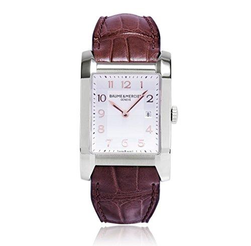Baume & Mercier Brown Leather Strap Silver Dial Women's Watch