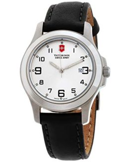 Victorinox Garrison Elegance Silver Dial Leather Strap Ladies Watch