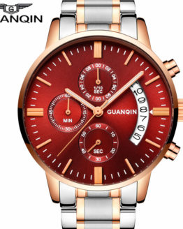 GUANQIN Luxury Watch Fashion Stainless Steel Watch for Man