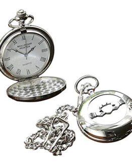 Irish Celtic Claddagh Pocket Watch by Mullingar Pewter