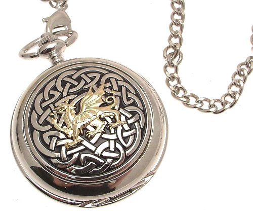 Solid pewter fronted mechanical skeleton pocket watch
