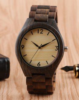 Creative Full Natural Wood Male Watches Handmade