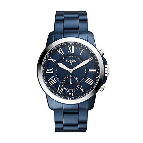 Fossil Hybrid Smartwatch - Q Grant Navy Blue Stainless Steel