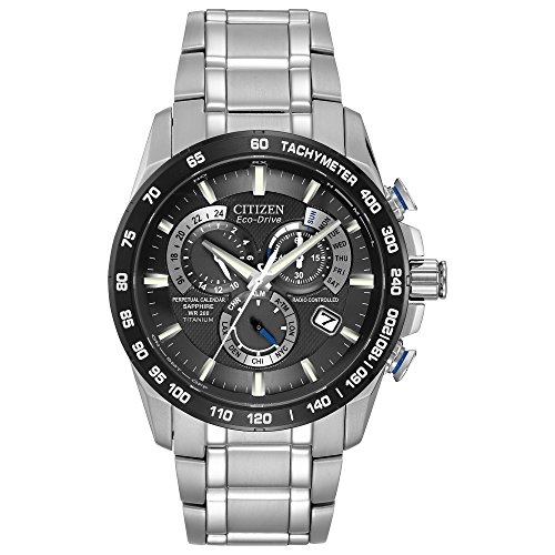 Citizen Men's Eco-Drive Titanium Perpetual Chrono Atomic Watch