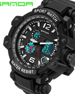 SANDA Digital Watch Men XFCS Military Men Wrist Watch