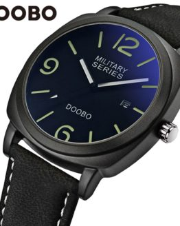 Mens Watches Top Brand Luxury Leather Strap Sports Army Military Quartz Watch