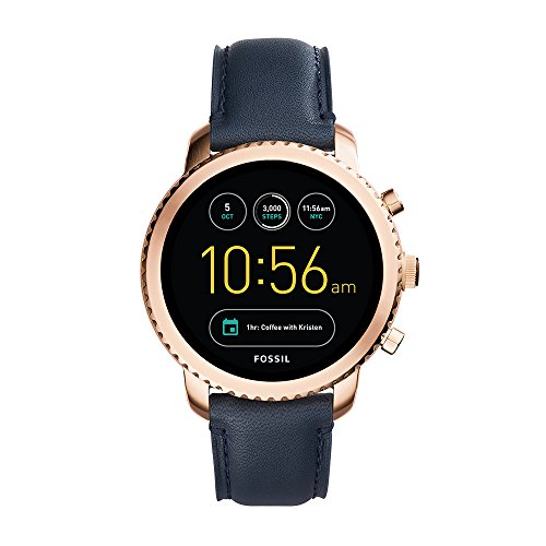 Fossil Q Men's Gen 3 Explorist Stainless Steel and Leather Smartwatch