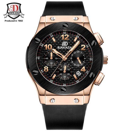 Men Watches New Chronograph Steel Watch