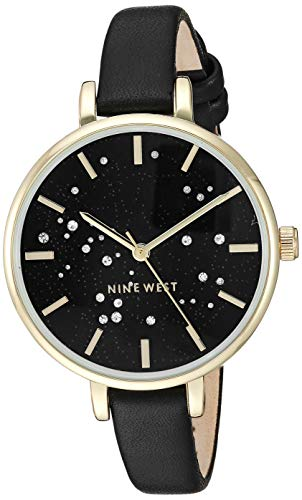 Nine West Women's Crystal Accented Gold-Tone Watch