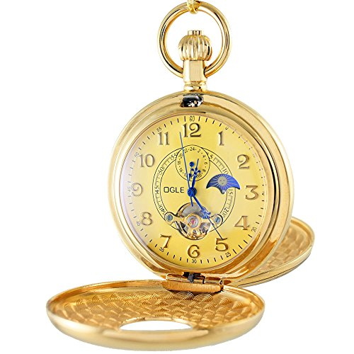 OGLE Vintage Copper Double Cover Mechanical Pocket Watch