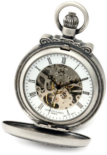 Charles-Hubert, Paris Classic Collection Antiqued Finish Pocket Watch