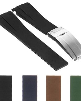 StrapsCo Premium Silicone Rubber Replacement Watch Band Strap
