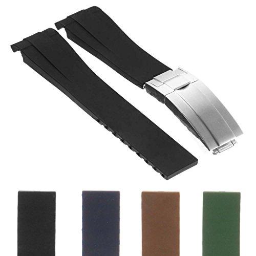 StrapsCo Premium Silicone Rubber Replacement Watch Band Strap