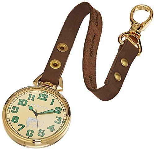 Dakota Japanese Quartz Watch with Calfskin Leather Strap, Brown