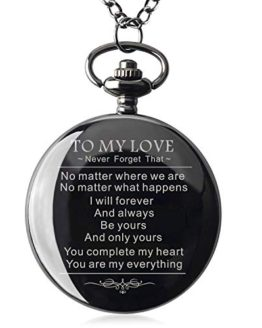Boyfriends Gifts Personalized Mechanical Pocket Watch with Gift Box