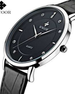 WWOOR Brand Luxury Men's Watches Waterproof Ultra Thin Simple Watch