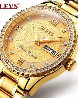 OLEVS Top Brand Luxury Mens Watches Stainless Steel Wrist Watch