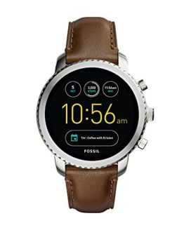 Fossil Q Men's Stainless Steel and Leather Smartwatch