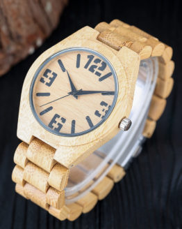Nature Wood Watch Mens Simple Fold Clasp Wrist Watch