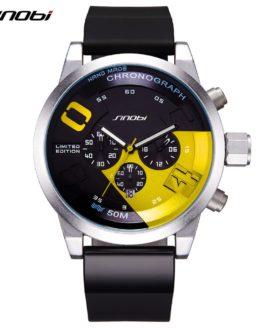 SINOBI Men's Sports Watches Waterproof Yellow Dial Man