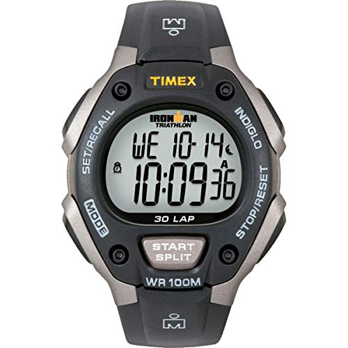 Timex Men's Ironman Classic 30 Gray/Black Resin Strap Watch