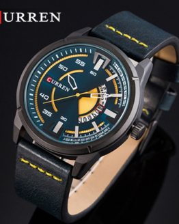 CURREN Mens Watches Top Brand Luxury Leather Casual Quartz Watch