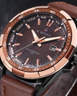 2016 New Luxury Brand Date Genuine Leather Men Quartz Watch