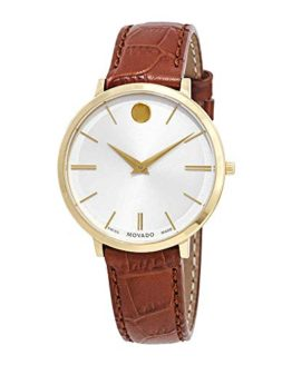 Movado Ultra Slim White Dial Ladies Watch