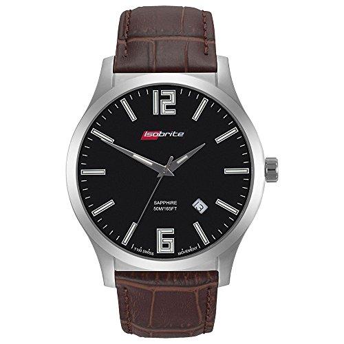 Isobrite ISO907 Grand Slimline Series Black Dial Tritium Watch