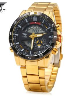 Men Watches Luxury Brand AMST Dual Display Clock Male Casual Sport Watch