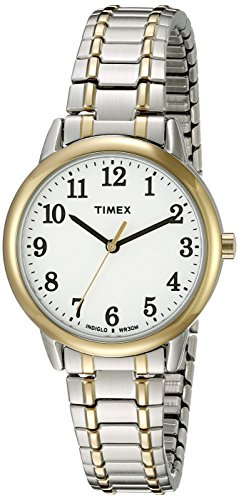Timex Women's Easy Reader Two-Tone Stainless Steel Expansion Band Watch