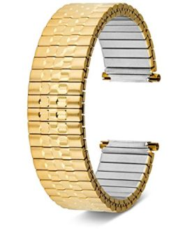 17-21mm Replacement Watchband Men's Gold Plated Metal Expansion