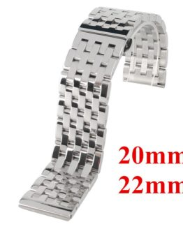 20mm 22mm Solid Stainless Steel Watch Band Wrist Mens Strap High Quality