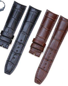 Pesno Croco Alligator Grain Genuine Leather Wristwatch Band Watch