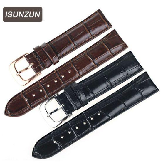 ISUNZUN Watch Bands For Tissot Men And Women Genuine Leather Watch
