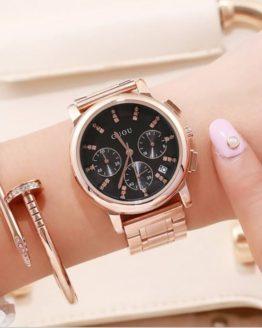 Women's Watches GUOU Fashion Ladies Wrist Watches Bracelet Luxury Watch