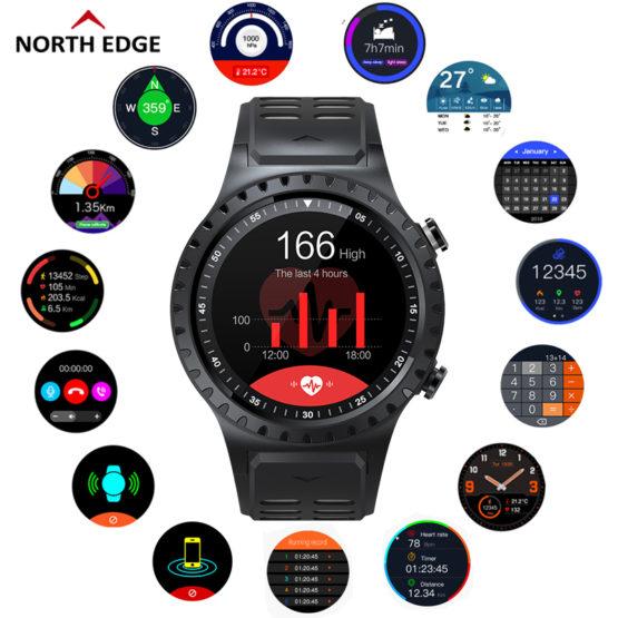 North Edge Smart Watch Support Bluetooth Phone Music Gps Smartwatch