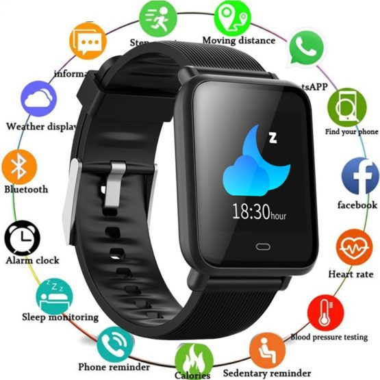 Q9 Smart Watch Waterproof IP67 Blood Pressure Heart Rate Monitor
