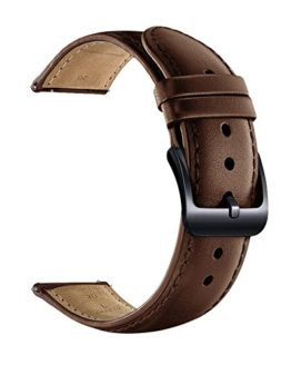 LEUNGLIK 20mm Watch Band Quick Release Leather Watch Bands