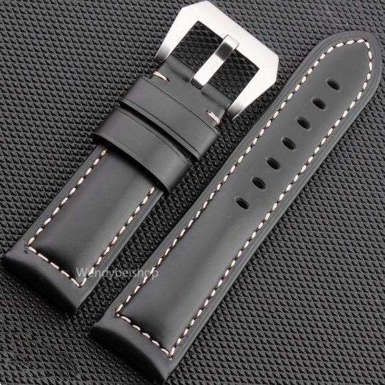 22 24 26mm Newest Men Women Black Brown Real Leather Handmade Watch