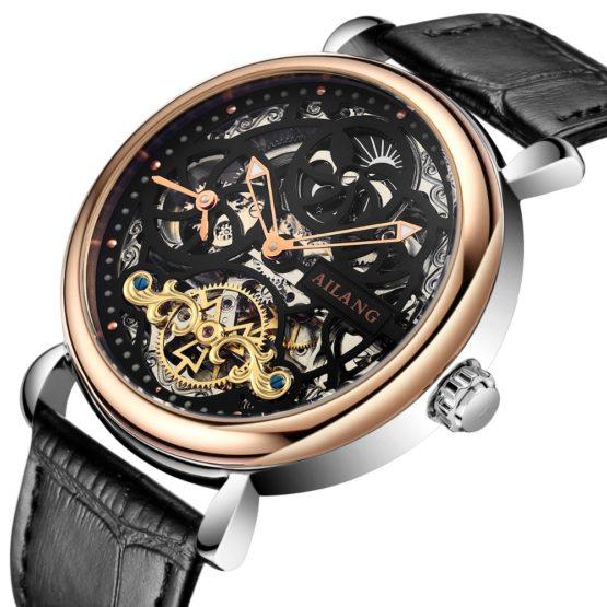 AILANG Skeleton Tourbillon Watch Top luxury brand Men watch