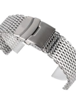 18mm 20mm 22mm Stainless Steel Mesh Watch Band Silver For Mens Wrist Watch