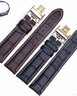 Pesno New Arrived Men and Women Genuine Leather Buckle Strap Watch Band