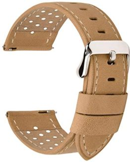 Fullmosa 5 Colors for Watch Band, Quick Release Breeze Leather Watch Strap