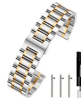 Berfine 22mm Quick Release Watch Strap,Premium Solid Stainless Steel Watch