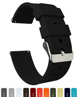Barton Silicone Watch Bands - Quick Release Straps - Choose Color & Width